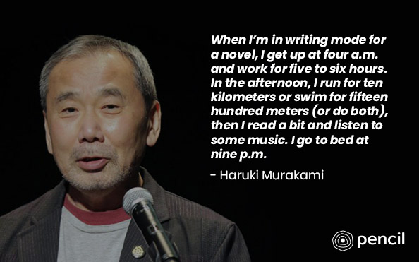 Writing Tips From Haruki Maurakami